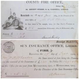 Fire Insurance Premium Receipts