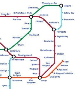 Kent Underground map pastiche