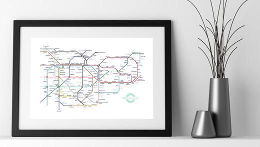 Kent lines underground pastiche