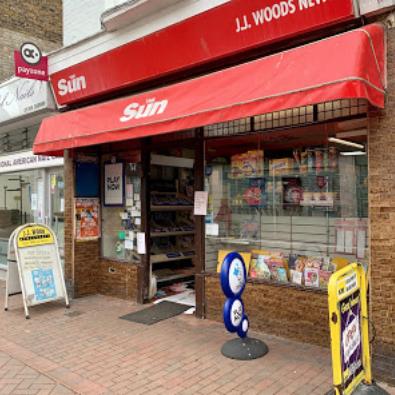 JJ Woods, Newsagents, High Street, Deal, Kent