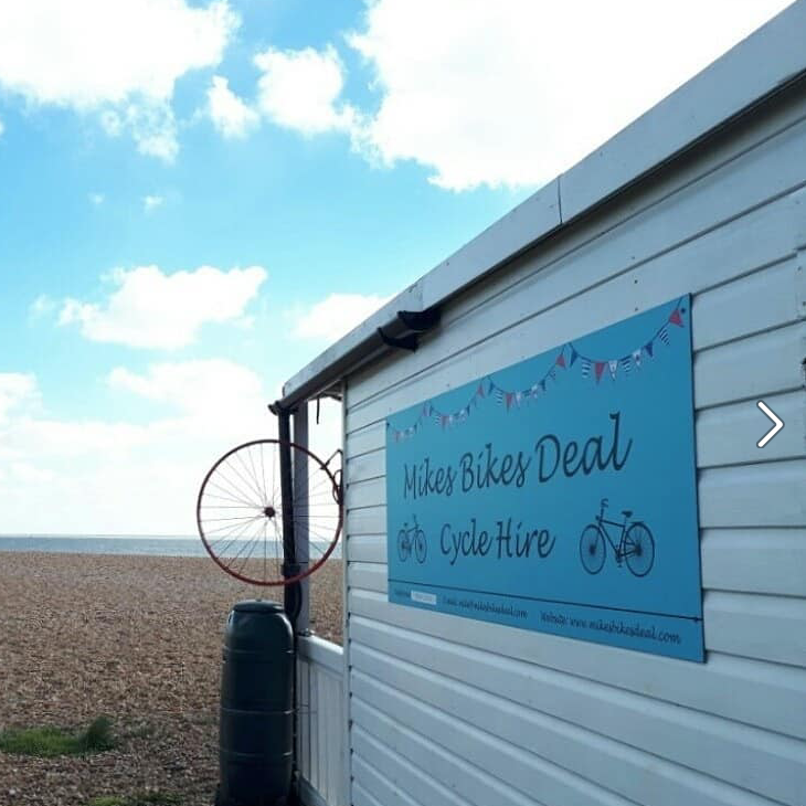 Mike's Bikes cycle hire, Deal, Kent